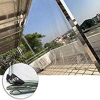 MAHFEI 防水シート、透明PVC サンシェードテント 高い透明性 補強コーナー 仕切りカーテン 防風 引き裂き抵抗 植物キャノピー 屋外キャンプテント (Color : 明確な, Size : 3x4m)