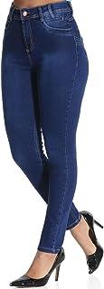 Calça Jeans Feminina Levanta Bumbum Cintura Alta Skinny Sawary