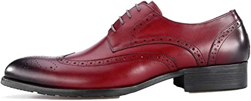 Oxford Chaussures Hommes Semelles en Caoutchouc Marron Mariage Lace Lace Up Chaussures en Cuir Verni  livraison éclair