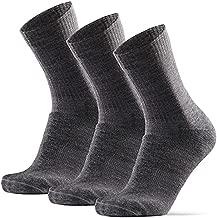 Merino Wool Light Hiking Socks (Grey 3-pairs, US Women 11-13 // US Men 9.5-12.5)