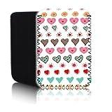 BIZEBEE 'Biz-E-Bee Mehrfarbig Cute Love Hearts' (7HD) Schutz Neopren Tasche für Xiaomi Mi Pad 2–Stoßfest und wasserabweisend Abdeckung, Hülle, Tasche,–Schnell Schiff UK