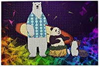 1000ピース ジグソーパズルしろくまカフェ (1) 環境保護、無臭、知的開発、親子ジグソーパズル!良質な木製パズル、家庭レジャーと娯楽のジグソーパズル!サイズ75.5*50.3 Cm