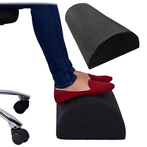 FORNORM Fußstütze Kissen, Ergonomisch Verstellbare Fußstütze Unter Schreibtisch Premium Weiche Füße Unterstützen Schaumkissen Halbzylinder für Home-Office-Reisen