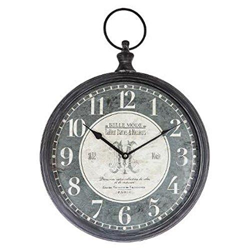 Paris Prix Atmosphera Créateur d'intérieur - Horloge Murale Vintage Gousset 40cm Gris