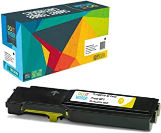 Do it Wiser Compatible Toner Cartridge Replacement for Xerox Phaser 6600, 6600n, 6600dn, 6600ydn | WorkCentre 6605, 6605n, 6605dn High Yield - 106R02227 - Yellow - 6,000 Pages