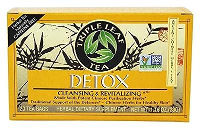 Triple Leaf Natural Herbal Tea, Detox 20 bags (Pack of 2) by Triple Leaf