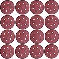 Tockrop 100 PCS 80 Grit 6 Inch 6 Holes Hook and Loop Sanding Disc, Durable Aluminum Oxide Sand Paper For Random Orbit Sanders (80 Grit-100 pack)