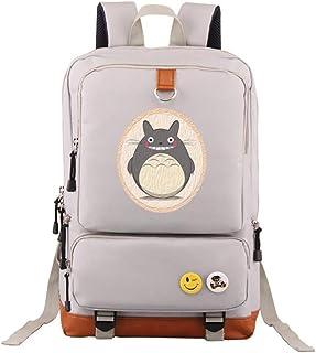 Japanese Anime My Neighbor Totoro Backpack Teenager Casual Laptop Bag Daypack (Grey)