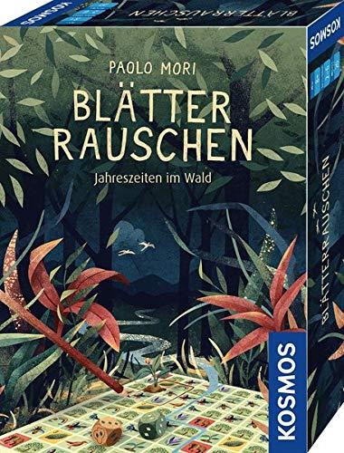 KOSMOS 680435 Blätterrauschen - Jahreszeiten im Wald, Roll & Write Spiel, für 2 - 6 SpielerInnen, ab 8 Jahre, Würfelspiel mit Spielblock 200 Seiten beidseitig bedruckt und 2 Würfel