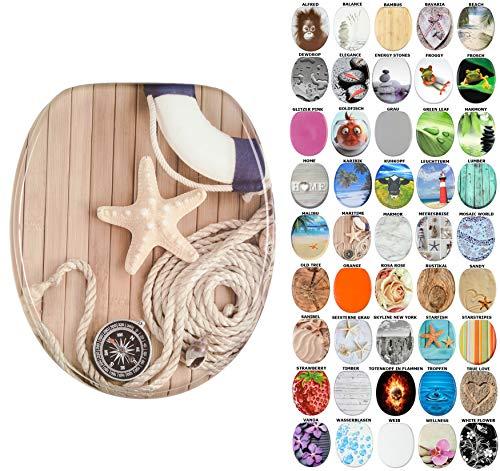 WC Sitz, viele schöne WC Sitze zur Auswahl, hochwertige und stabile Qualität aus Holz (Maritime)
