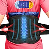 Elitehood Back Brace with Ice Pack, Lumbar Support for Back Pain Relief, Scoliosis Herniated Disc, Breathable Material Design Adjustable Back Brace for Men & Women with Hot Cold Therapy (Extra Large)