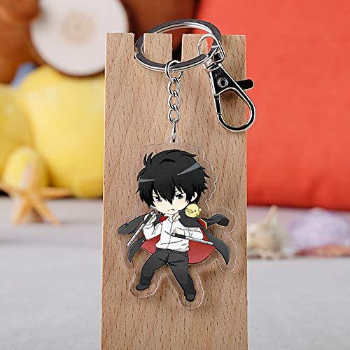 TUDUDU Anime Hitman Reborn Keychain Cartoon Figur Tsunayoshi Hibari Kyoya Hayato Anhänger Schlüsselanhänger