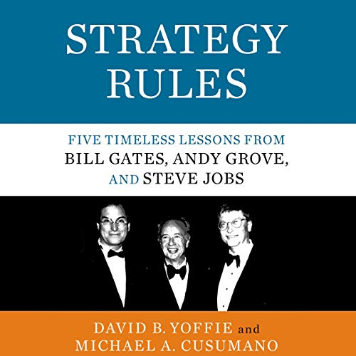 Strategy Rules audiobook cover art