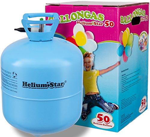 eliumStar - Bombola di gas elio per palloncini con 420 litri per gonfiare fino a 50 palloncini, per feste e diverse occasioni