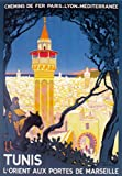 Affiche Prints TX185 Poster, Retro-Marseille Tunisien