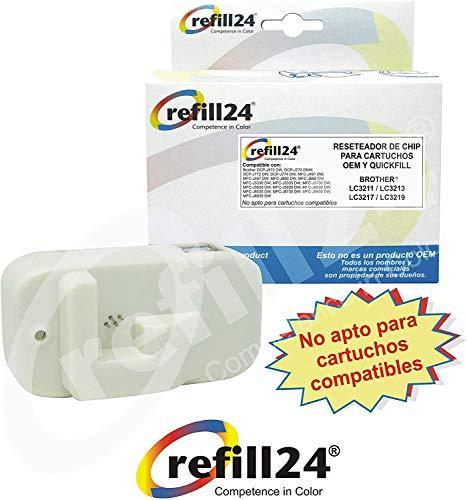 refill24 Reseteador de Chip con conexión USB para Cartuchos Brother LC-3211, LC-3213, LC-3217, LC-3219 para 40 usos.