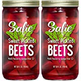 Safie Beets Home Style Sweet Pickled Beets, 35oz Glass Jar (Pack of 2, Total of 70 Oz)
