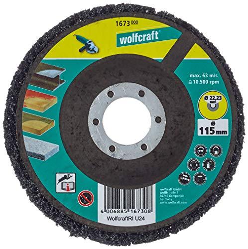 Wolfcraft 1673000 1673000-1 Disco de Limpiar Universal para Amoladora, 115x22mm