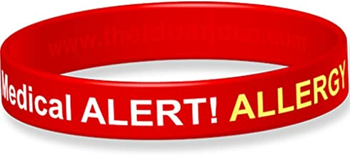 Alert! Allergy Silicone Wristband-16cm -Red