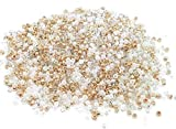 1000 Perles de ROCAILLE Dore Or Blanc - Melange Multicolore - Ø 2 mm 12/0 - Livraison Gratuite - Creation