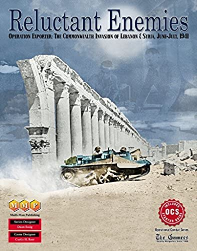 MMP  Reluctant Enemies, Operation Exporter & the Allied Invasion of Lebanon & Syra, 1941 by MMP Multi-Man Publications