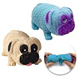 Squishies (2 Pack) Sensory Fidget Toys Set in The Chubby Puppy Pug Shaped for Decompression to Adult and Kids Tear-Resistant Ideal Stress and Anxiety Relief for Kids, Boys and Girls