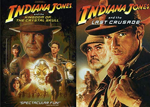 Steven Spielberg's Indiana Jones Two-Movie Collection - The Last Crusade and Kingdom of the Crystal Skull DVD Bundle