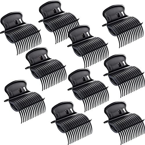 Haarklammern für Lockenwickler, Klauenclips, Ersatz-Rollerclips für Frauen / Mädchen, Styling (10 Stück, schwarz)
