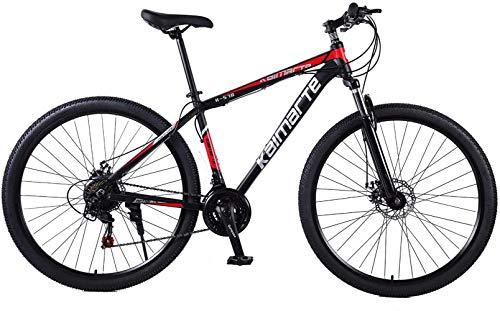 GOLDGOD 29 Pulgadas Cabellera Dura Bicicletas De Montaña, MTB Bicicleta con Suspensión Delantera Asiento Ajustable Mountain Bike Manillares Antideslizantes Y Frenos De Disco Doble,21 Speed
