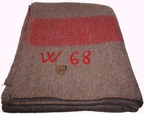 Unbekannt Original Schweizer Wolldecke neuwertig 200 x 140 Armeedecke Hundedecke Möbeldecke