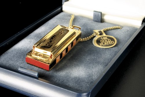 Hohner 110 Gold Plated Little Lady Harmonica with Necklace