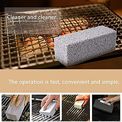 SUPRIQLO BBQ Grill Cleaning Brick Barbecue Block Stone Stains Scraper Cleaner Tools Outdoor Cooking Tools & Accessories