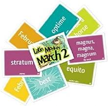 Latin Monkey Match 2 Flashcard Game (Latin Edition)