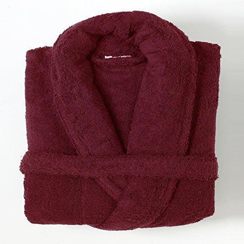 Linens Limited - Albornoz - 100% algodón Egipcio - Vino, Grande