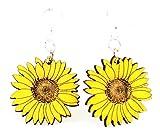 Detailed Sunflower Earrings