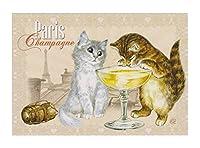 フランス製 キャットポストカード (Paris Champagne) CPK059