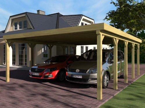 Carport Flachdach SILVERSTONE V 600x800 cm Bausatz Flachdachcarport
