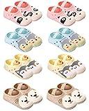 QandSweat Baby Toddler Non-skid Socks Little Girls Cute Cartoon Floor Socks 8-Pairs 8-36M (Cartoon 8 Pairs)