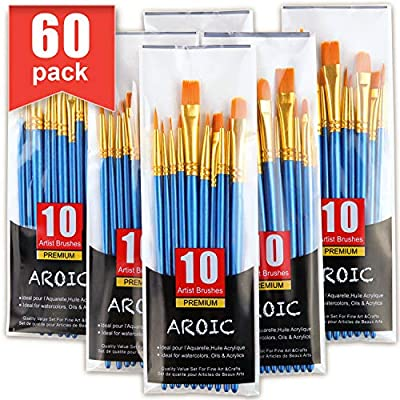 AROIC Paint Brush Set, Nylon Hair Brushes