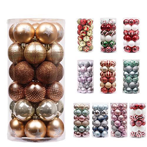 Valery Madelyn 30Pcs Bolas de Navidad de 6cm, Adornos de Navidad para Arbol, Decoración de Bolas Navideños...