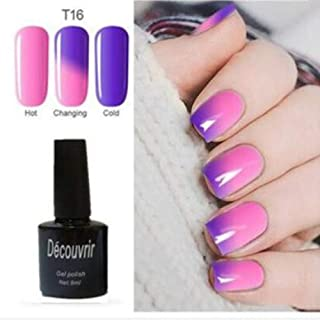CoCocina Decouvrir Temperature Change Nail Uv Gel Color Changing Polish Gradient Thermal Chameleon Cute - 16