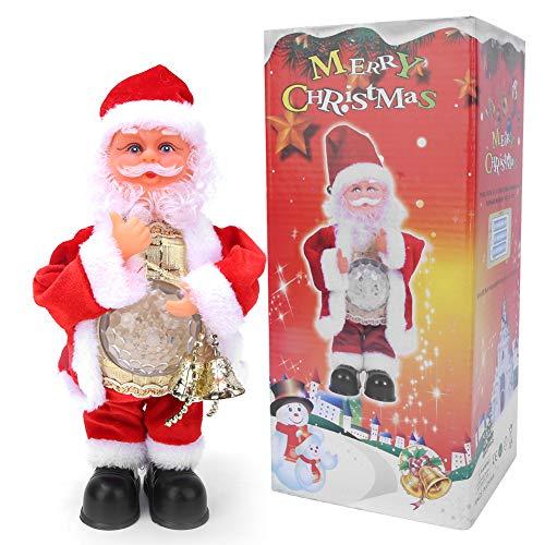 Zerodis Elektrische Weihnachtsmann Spieluhr Ornamente Kreative DIY Ornamente Dekoration Handwerk Spielzeug Weinachtsgeschenk für Kinder Jungen und Mädchen (Keine Batterien enthalten)