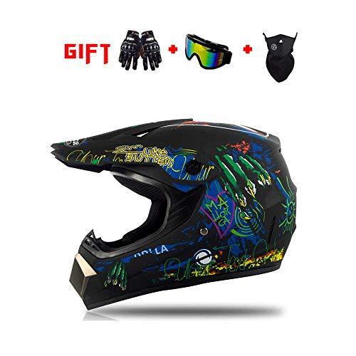 DZTIZI motorhelm helm met bril helm helm helm motorcross helm set off road mtb crash helm beschermend