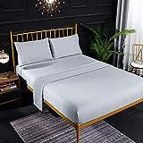 NHhuai Protector de colchón Acolchado - Microfibra - Transpirable Bordado Bordado de Color Puro