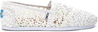 TOMS Classic White Lace Leaves Womens Espadrilles Slipons