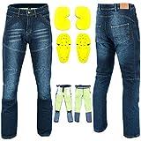 RXL - Pantalones vaqueros de moto Kevlar para hombre y motocicleta, pantalones de mezclilla...