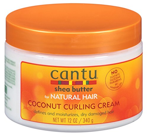 Cantu Natural Hair Coconut Curling Cream 12 Ounce Jar (2 Pack)