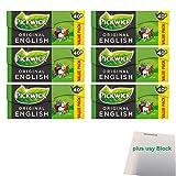 Pickwick Original English Intense Vorteilspackung 6er Pack (6x 40x4g Teebeutel) + usy Block
