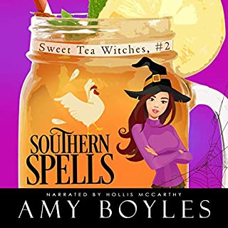Southern Spells     Sweet Tea Witch Mysteries, Book 2              By:                                                                                                                                 Amy Boyles                               Narrated by:                                                                                                                                 Hollis McCarthy                      Length: 6 hrs and 2 mins     Not rated yet     Overall 0.0