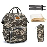 VBG VBIGER Diaper Bag Backpack Multifunction Nappy Bags Large Travel Backpack for Baby Care Camo